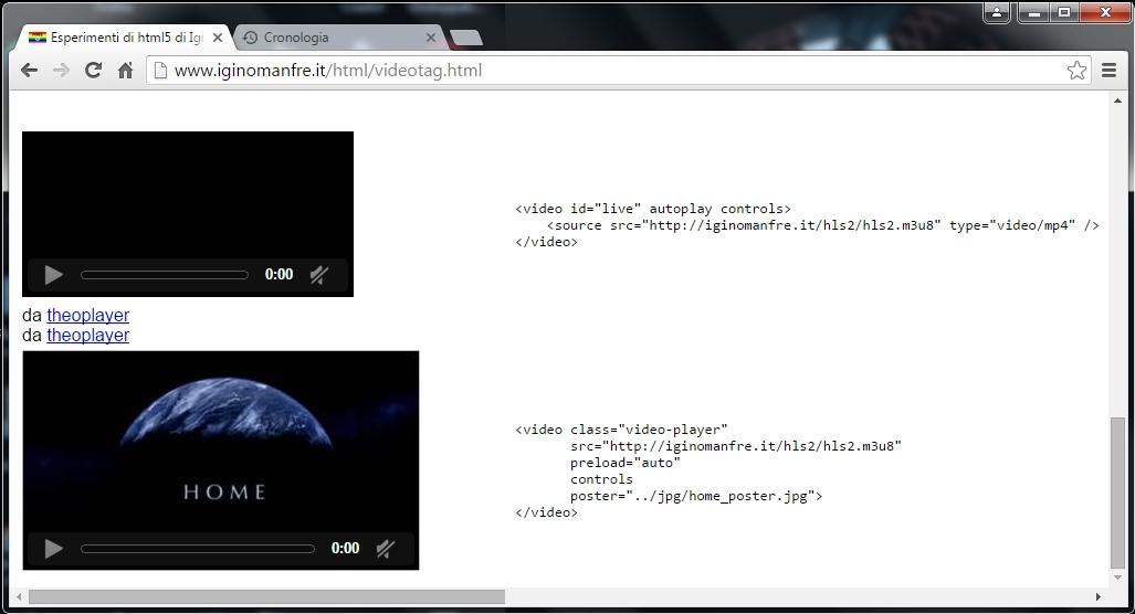 Esperimenti di html5 di Igino Manfre'